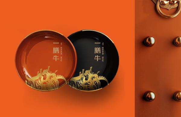 一膳牛品牌策划设计-餐饮vi设计-杭州达岸品牌策划设计公司